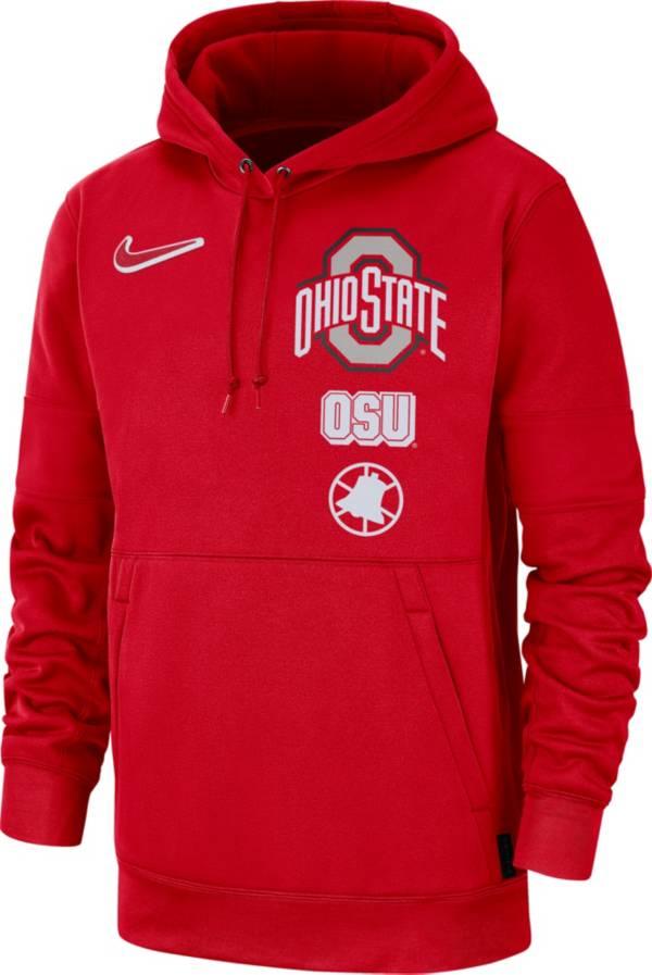 Nike Men's Ohio State Buckeyes Scarlet Therma Local Pullover Hoodie product image