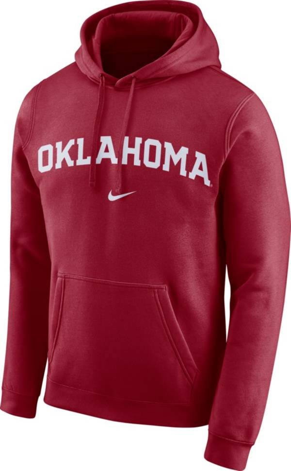 Nike Men's Oklahoma Sooners Crimson Club Arch Pullover Fleece Hoodie product image
