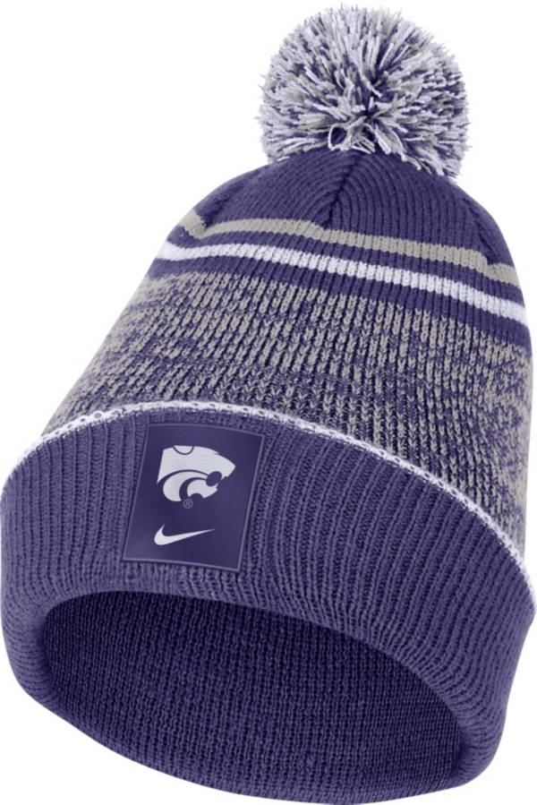 Nike Men's Kansas State Wildcats Purple Football Sideline Cuffed Pom Beanie product image