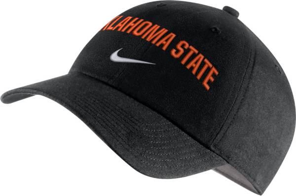 Nike Men's Oklahoma State Cowboys Heritage86 Arch Wordmark Black Hat product image