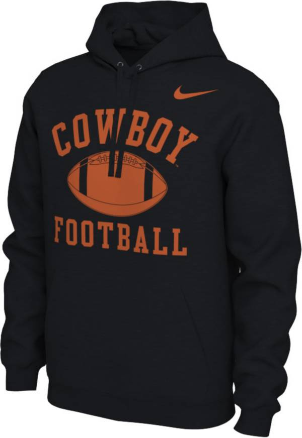 Nike Men's Oklahoma State Cowboys Black Pullover Football Hoodie product image