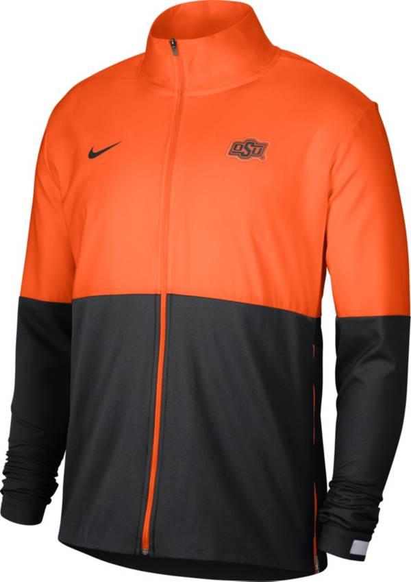 Nike Men's Oklahoma State Cowboys Orange/Black Colorblock Woven Full-Zip Jacket product image