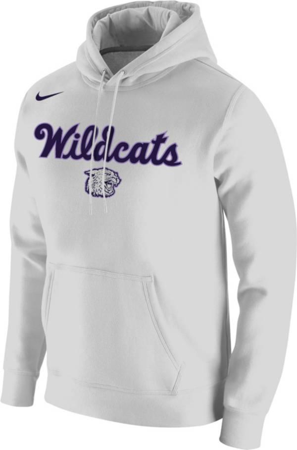 Nike Men's Kansas State Wildcats Retro Basketball Pullover White Hoodie product image