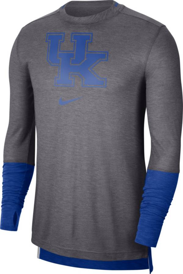 Nike Men's Kentucky Wildcats Grey Football Sideline Player Breathe Long Sleeve T-Shirt product image