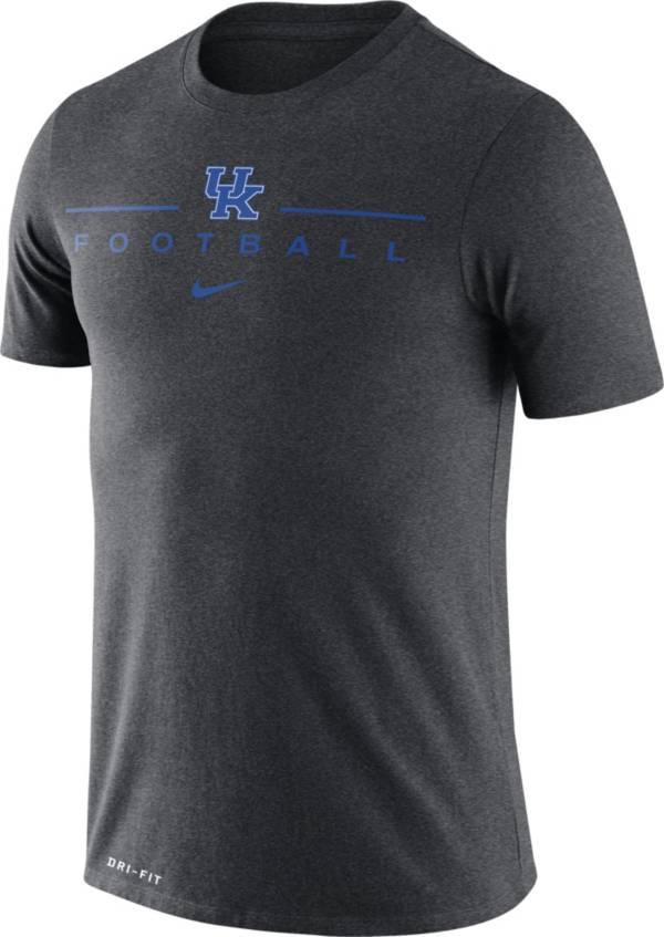 Nike Men's Kentucky Wildcats Grey Dri-FIT Cotton Football T-Shirt product image