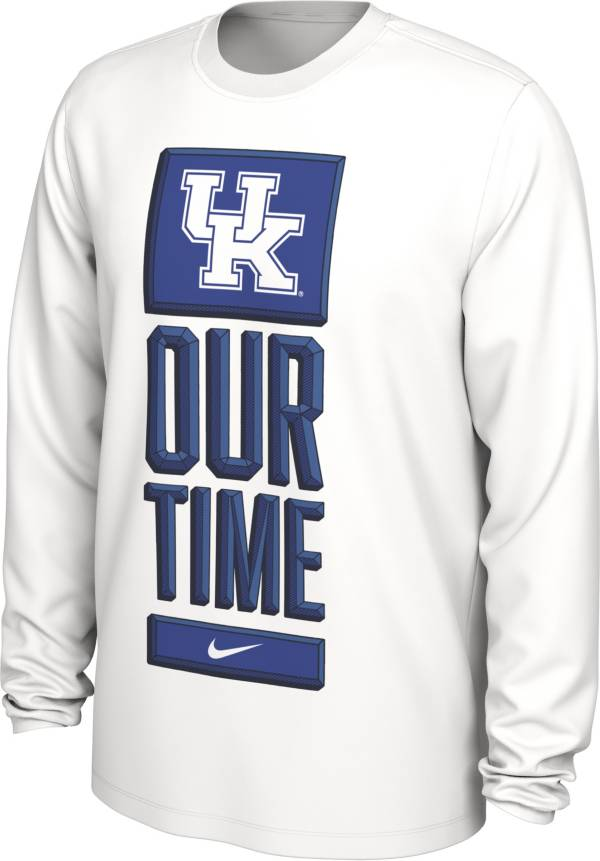 Nike Men's Kentucky Wildcats 'Our Time' Bench Long Sleeve White T-Shirt product image