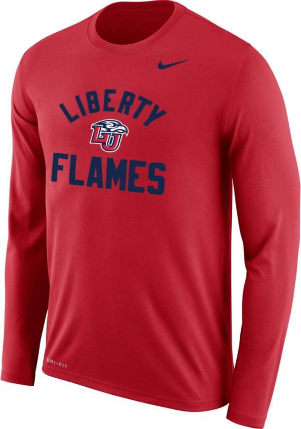 Nike Men's Liberty Flames Red Dri-FIT Legend Long Sleeve T-Shirt product image