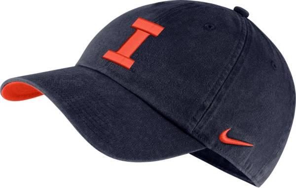 Nike Men's Illinois Fighting Illini Blue Washed Heritage86 Hat product image