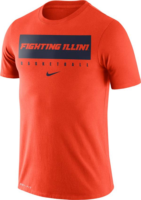 Nike Men's Illinois Fighting Illini Orange Basketball Legend Practice T-Shirt product image