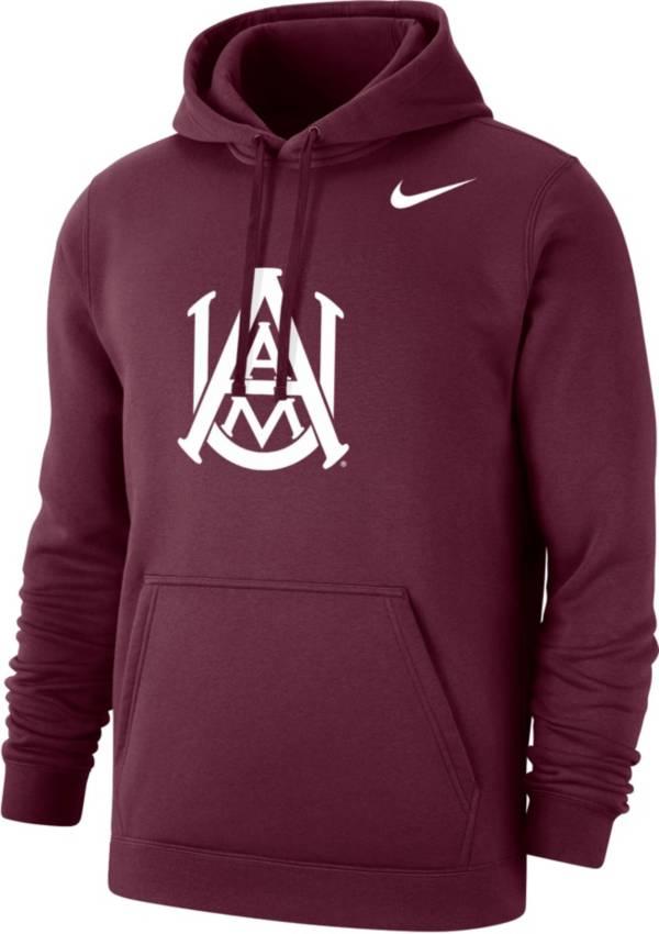 Nike Men's Alabama A&M Bulldogs Maroon Club Pullover Fleece Hoodie product image