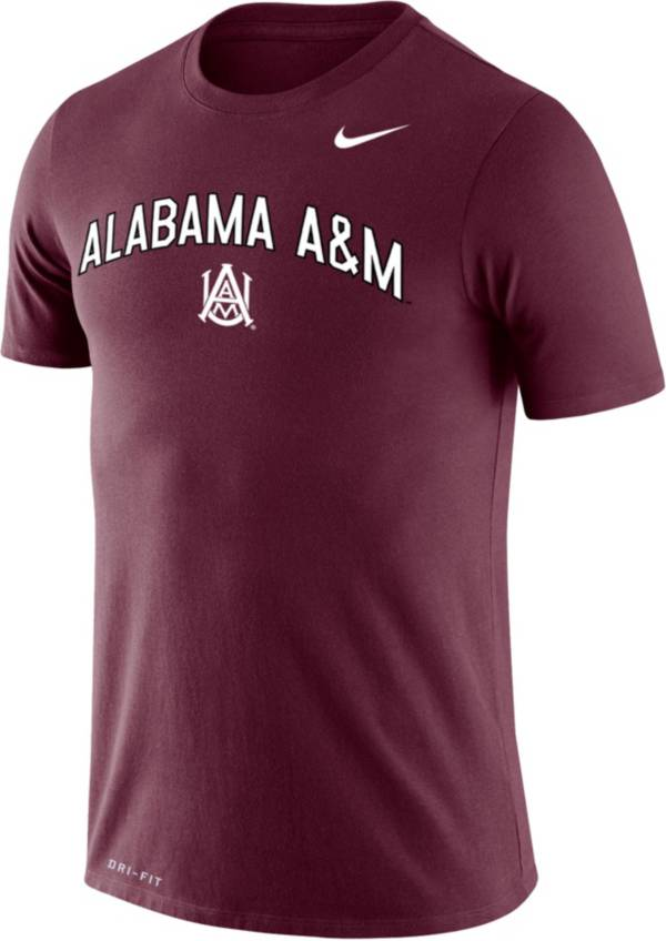 Nike Men's Alabama A&M Bulldogs Maroon Dri-FIT Legend T-Shirt product image