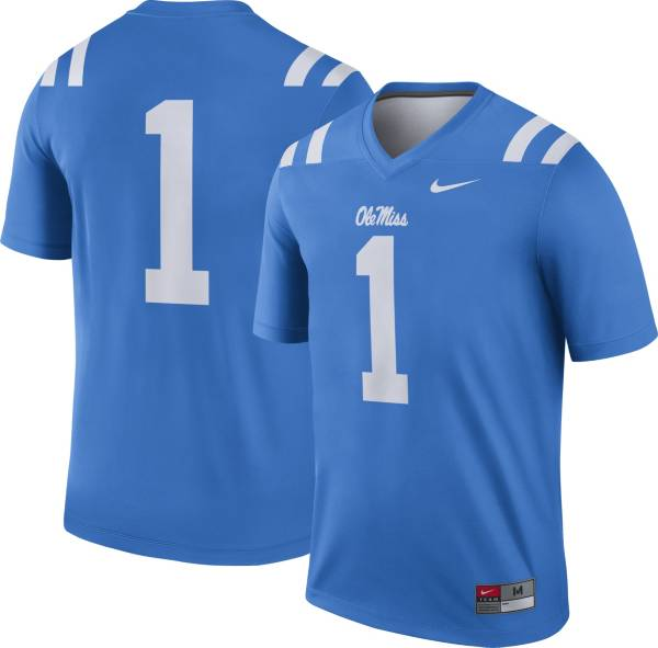 Nike Men's Ole Miss Rebels #1 Blue Dri-FIT Game Football Jersey product image