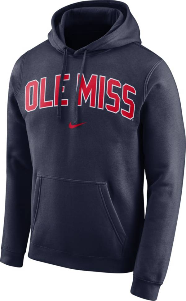 Nike Men's Ole Miss Rebels Blue Club Arch Pullover Fleece Hoodie product image