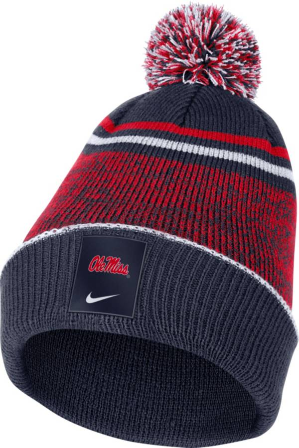 Nike Men's Ole Miss Rebels Blue Football Sideline Cuffed Pom Beanie product image