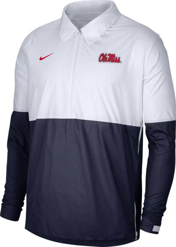 Nike Men's Ole Miss Rebels White/Blue Lightweight Football Coach's Jacket product image