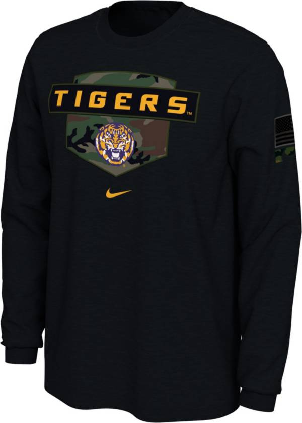 Nike Men's LSU Tigers 'Veterans Day' Long Sleeve Black T-Shirt product image