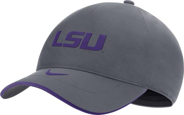 Nike Men's LSU Tigers Grey Legacy91 Shield Adjustable Hat product image