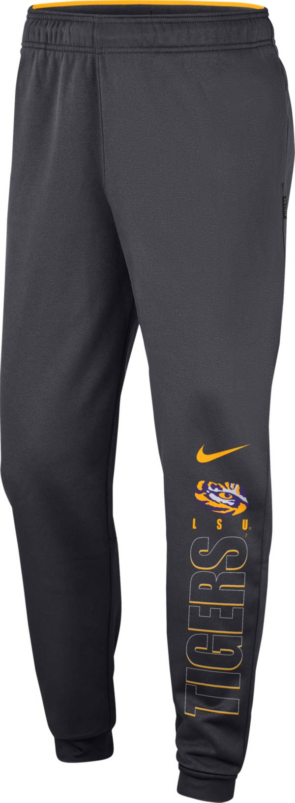 Nike Men's LSU Tigers Grey Therma Tapered Pants product image
