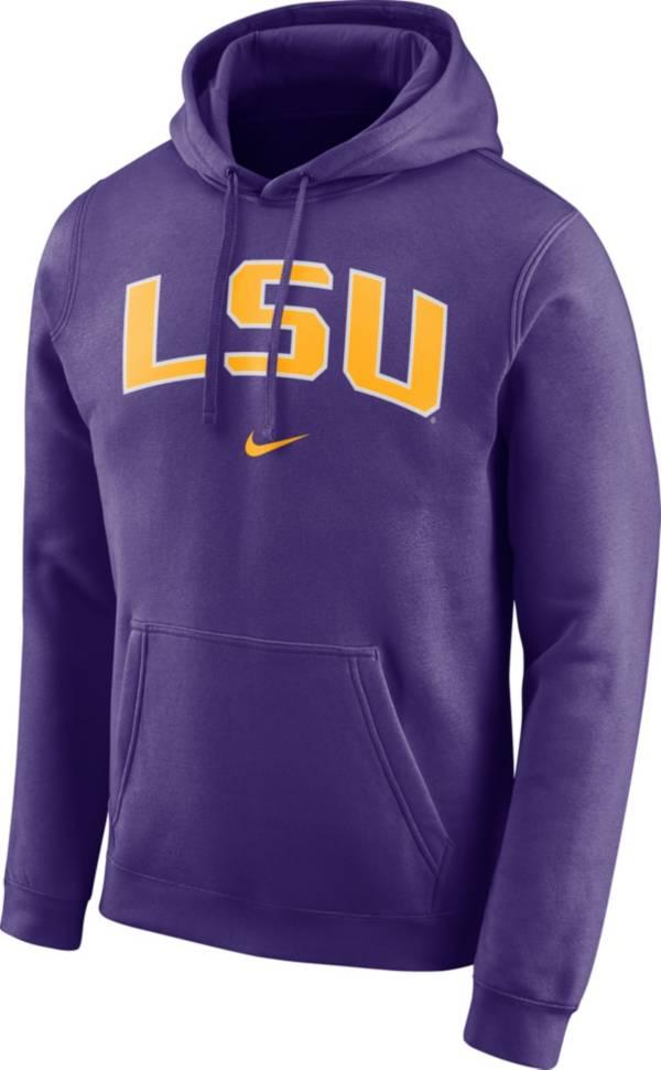 Nike Men's LSU Tigers Purple Club Arch Pullover Fleece Hoodie product image