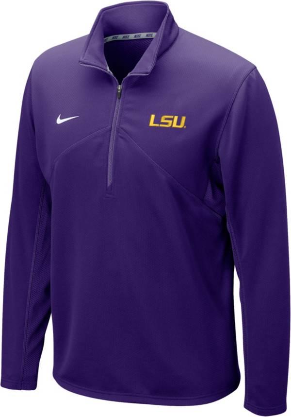 Nike Men's LSU Tigers Purple Dri-FIT Training Quarter-Zip Shirt product image