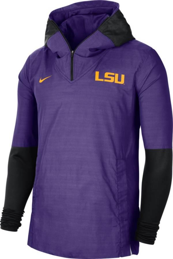 Nike Men's LSU Tigers Purple Lightweight Football Sideline Player's Jacket product image