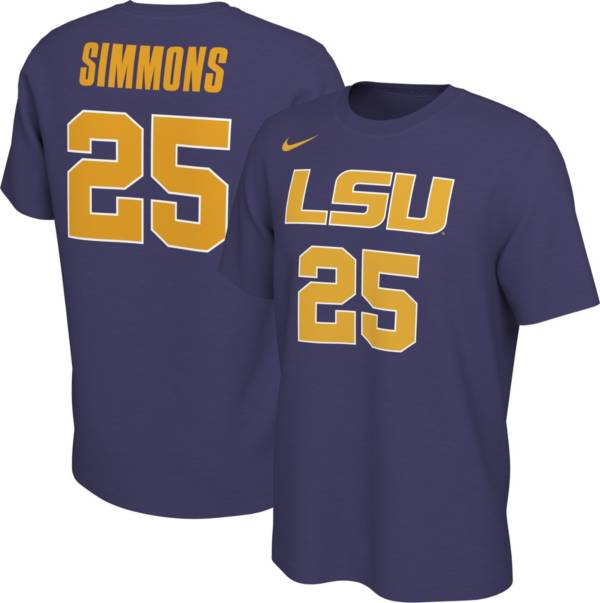 Nike Men's Ben Simmons LSU Tigers #25 Purple Basketball Jersey T-Shirt product image