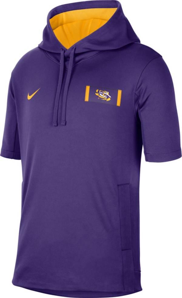 Nike Men's LSU Tigers Purple Showout Short Sleeve Hoodie product image