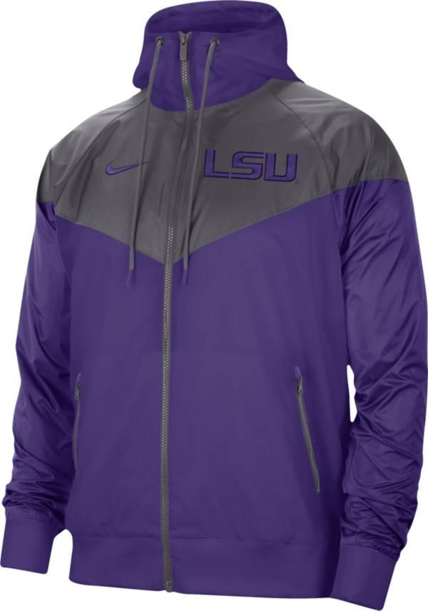 Nike Men's LSU Tigers Purple Windrunner Jacket product image