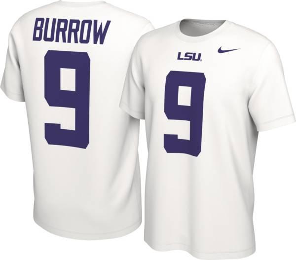 Nike Men's Joe Burrow LSU Tigers #9 White College Alumni Core T-Shirt product image