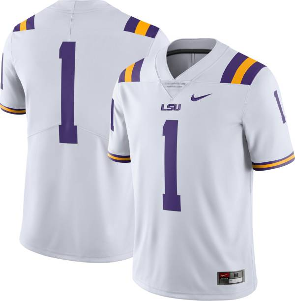 Nike Men's LSU Tigers #1 Dri-Fit Limited Home Football White Jersey product image