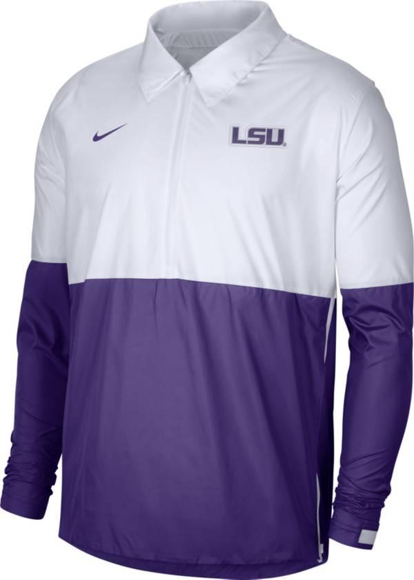 Nike Men's LSU Tigers White/Purple Lightweight Football Coach's Jacket product image