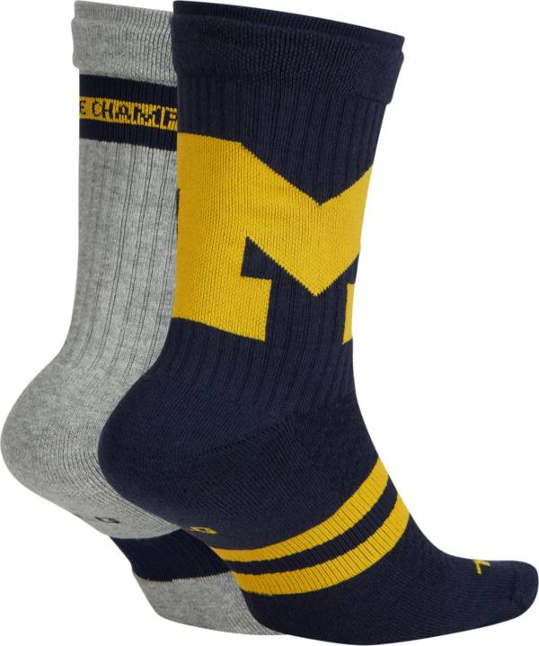 Jordan Michigan Wolverines Multiplier 2-Pair Socks product image