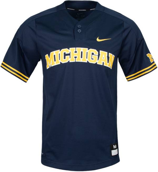 Nike Men's Michigan Wolverines Blue Dri-FIT Replica Baseball Jersey product image