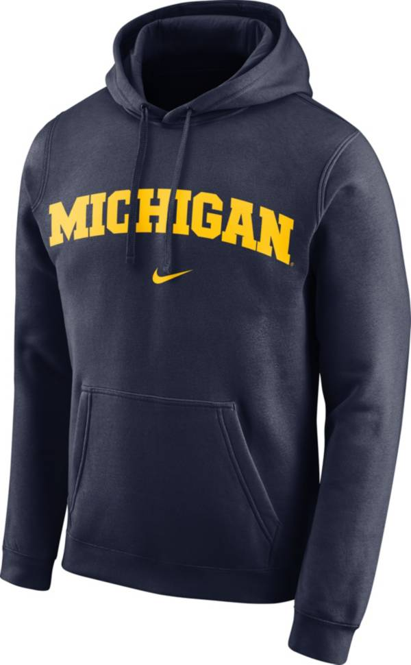 Nike Men's Michigan Wolverines Blue Club Arch Pullover Fleece Hoodie product image