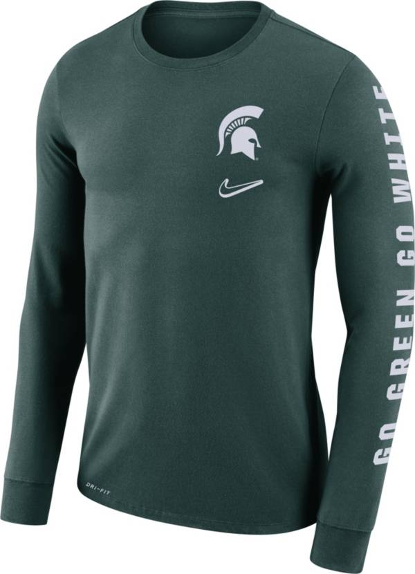 Nike Men's Michigan State Spartans Green 'Go Green Go White' Mantra Long Sleeve T-Shirt product image