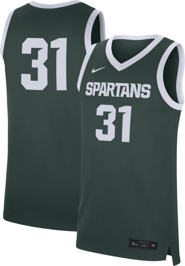 Nike Men's Michigan State Spartans #31 Green Replica Basketball Jersey product image
