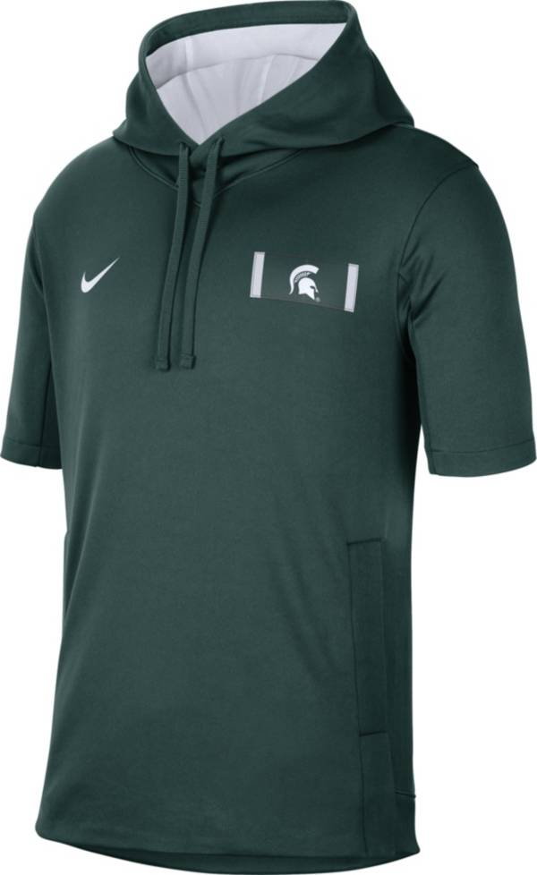 Nike Men's Michigan State Spartans Green Showout Short Sleeve Hoodie product image