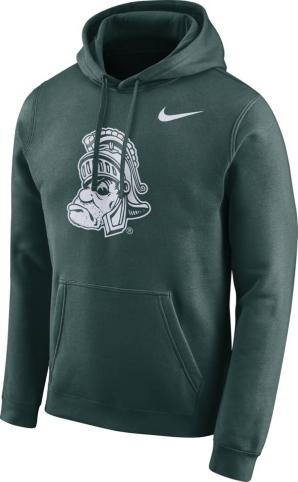 Nike Men's Michigan State Spartans Green Club Vault Pullover Hoodie product image