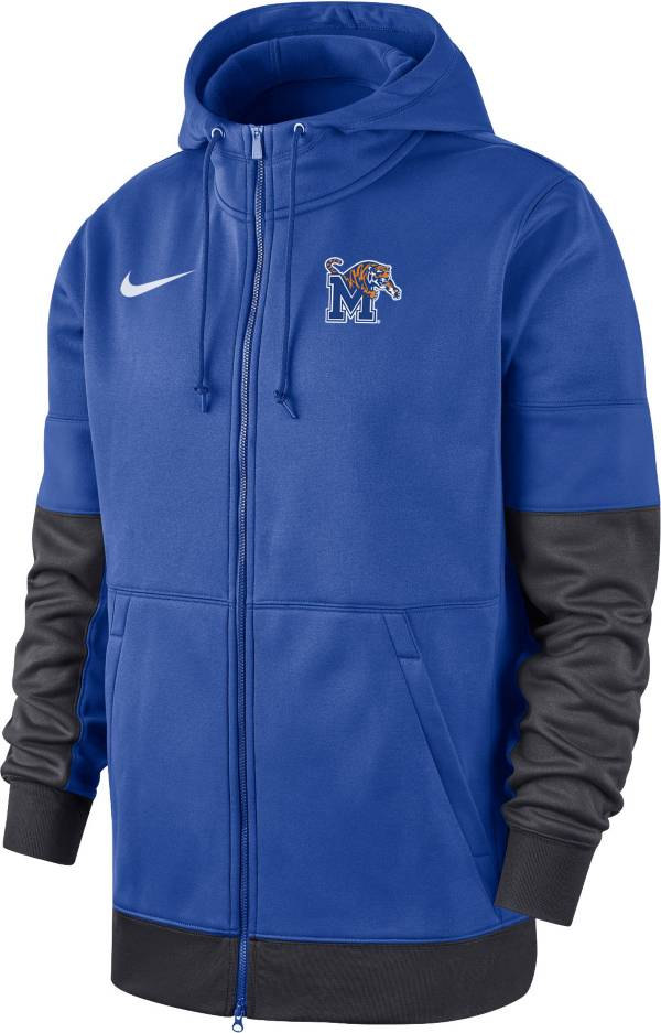 Nike Men's Memphis Tigers Blue Therma-FIT Full-Zip Hoodie product image