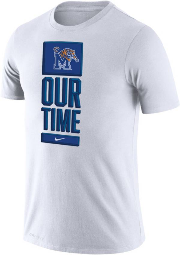 Nike Men's Memphis Tigers 'Our Time' Bench White T-Shirt product image