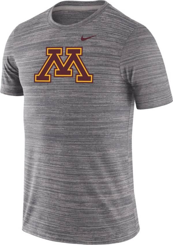 Nike Men's Minnesota Golden Gophers Grey Velocity Performance T-Shirt product image