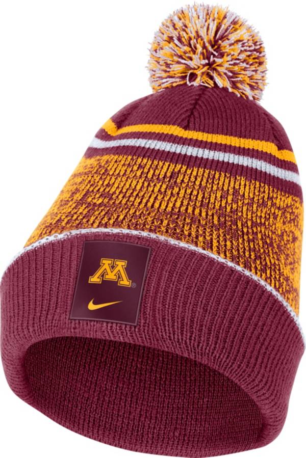 Nike Men's Minnesota Golden Gophers Maroon Football Sideline Cuffed Pom Beanie product image