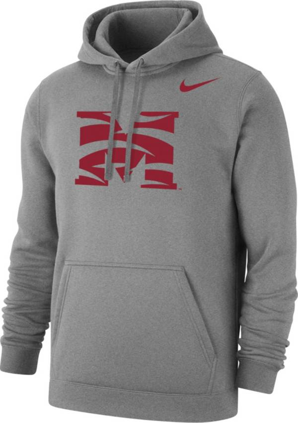 Nike Men's Morehouse College Maroon Tigers Grey Club Pullover Fleece Hoodie product image