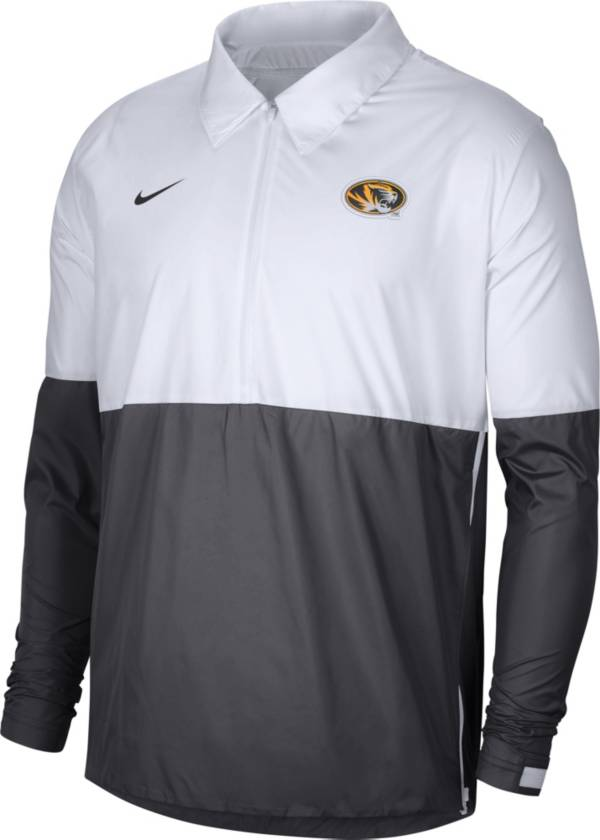 Nike Men's Missouri Tigers White/Grey Lightweight Football Coach's Jacket product image