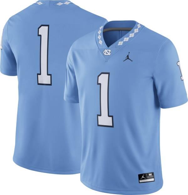 Jordan Men's North Carolina Tar Heels Carolina Blue #1 Dri-FIT Game Football Jersey product image