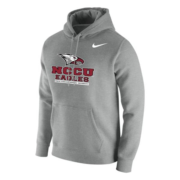 Nike Men's North Carolina Central Eagles Grey Club Fleece Pullover Hoodie product image