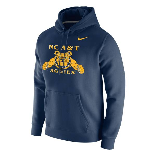 Nike Men's North Carolina A&T Aggies Navy Club Fleece Pullover Hoodie product image