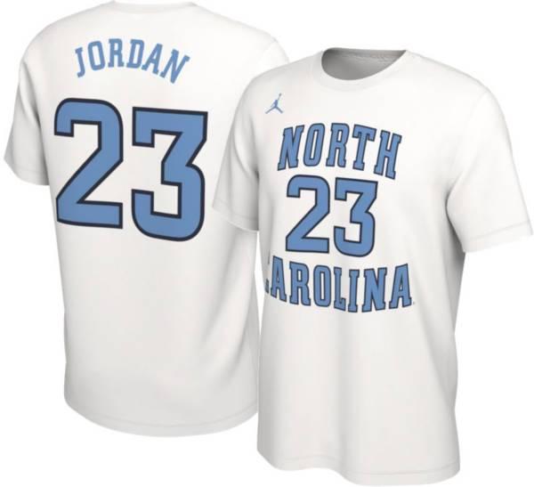 Jordan Men's Michael Jordan North Carolina Tar Heels #23 Basketball Jersey White T-Shirt product image