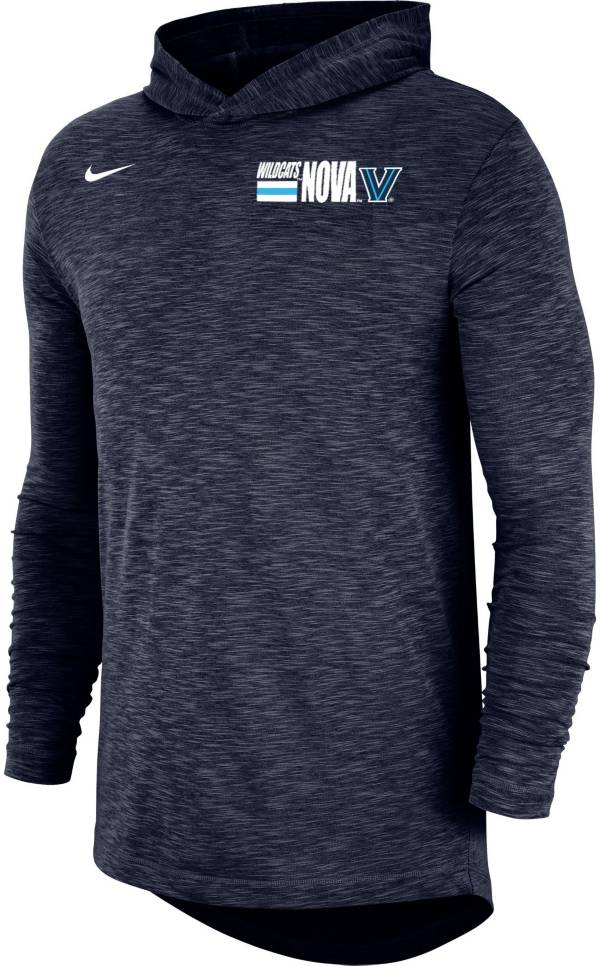 Nike Men's Villanova Wildcats Navy Dri-FIT Slub Long Sleeve Hooded T-Shirt product image