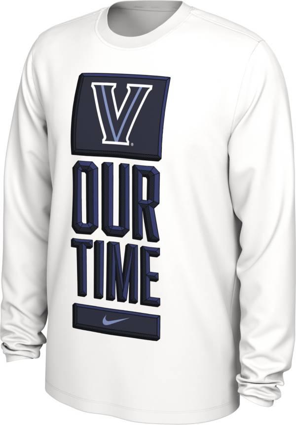 Nike Men's Villanova Wildcats 'Our Time' Bench Long Sleeve White T-Shirt product image